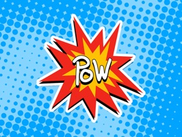 Comic Book Pow Stickers