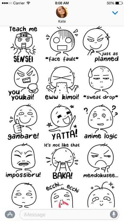 Otaku Lingo stickers