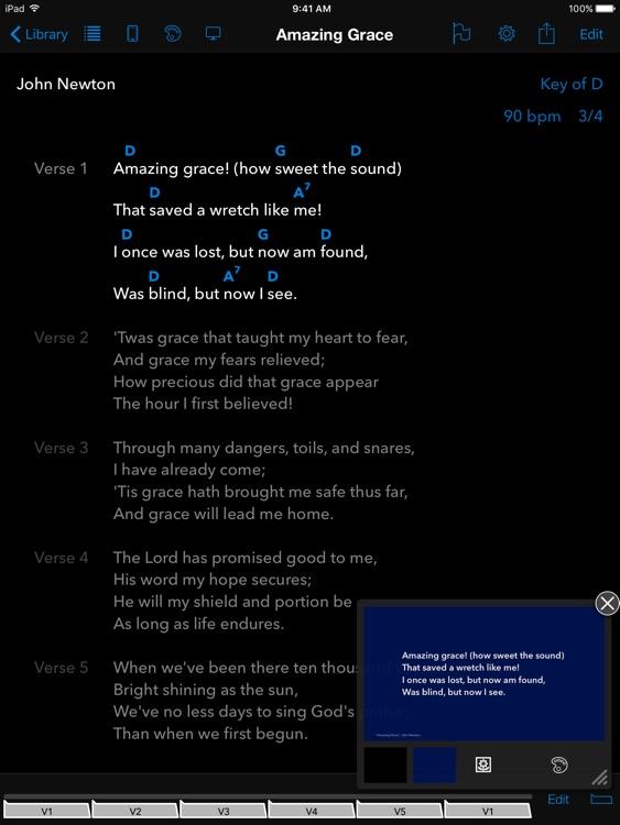 SongSheet Pro - Chord chart songbook and set lists screenshot-4