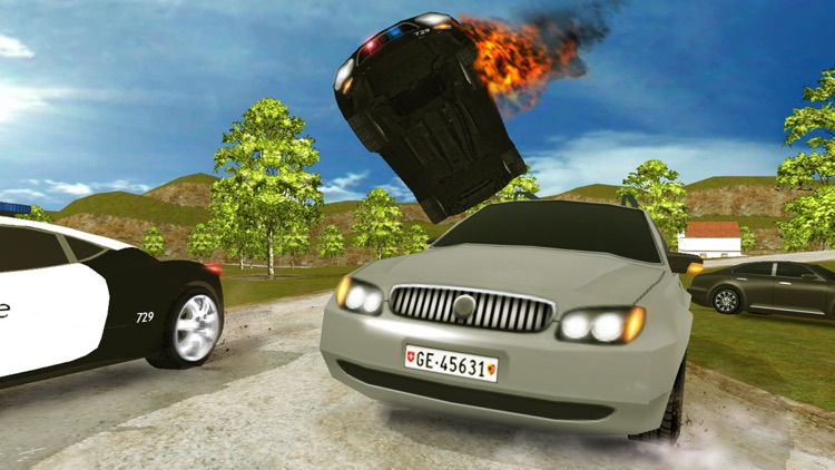 Real City Police Car Driving Crime Chase 3D screenshot-4