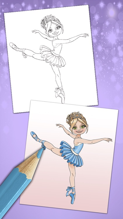 Magical ballerina coloring book pages game screenshot-4