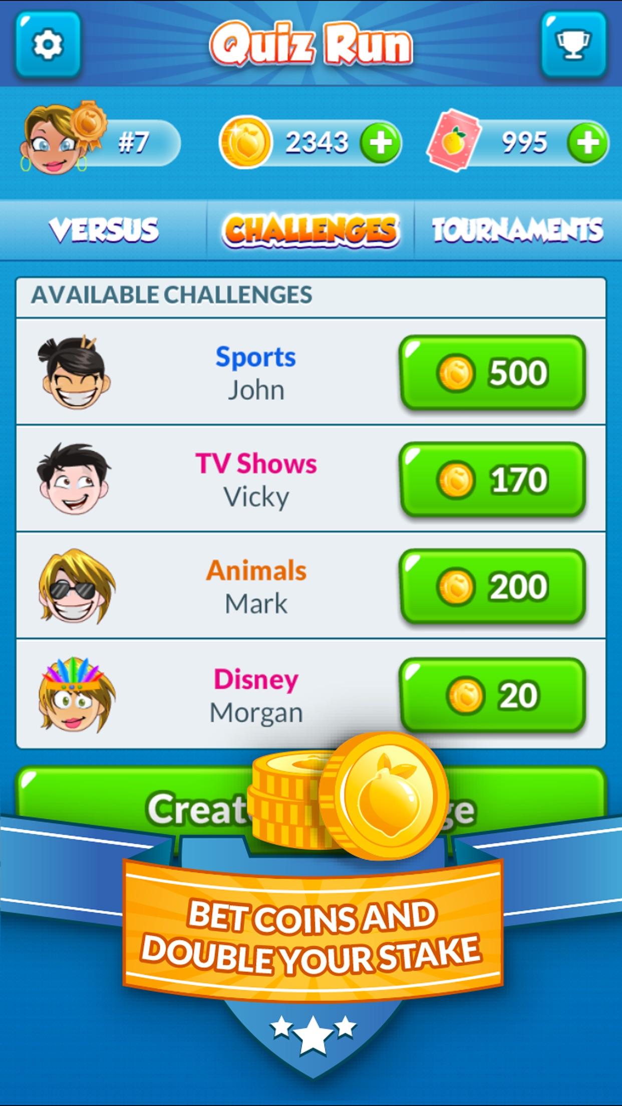 Quiz Run - Challenge your friends! Screenshot