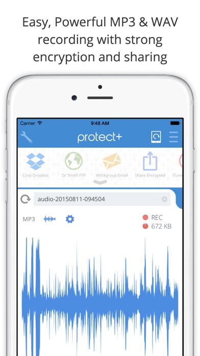 Protect+ Audio Recorder screenshot one