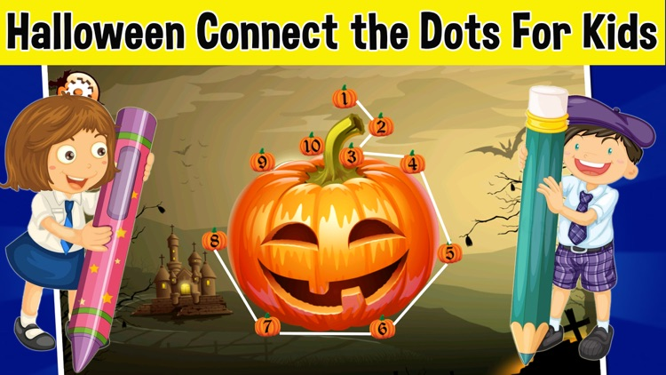 Halloween Connect the Dots - Halloween Games For Toddlers & Kids