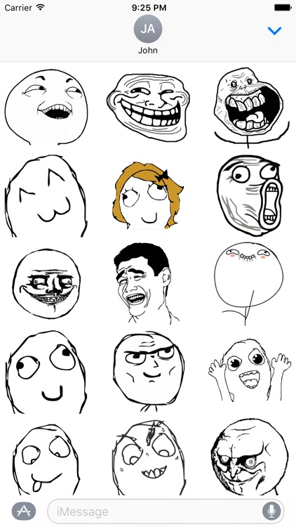 Memes - Rage Comic Stickers for iMessage screenshot-0
