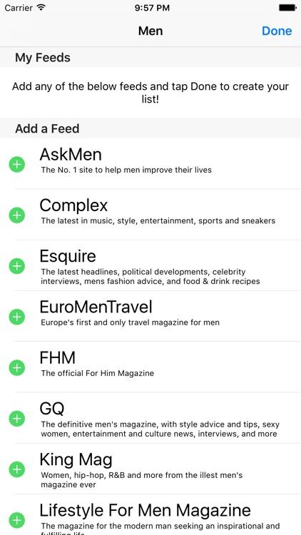 Men - A News Reader for Men screenshot-4