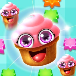 Cup-cake Mania Sweet candy Match 3 Maker Pop Game