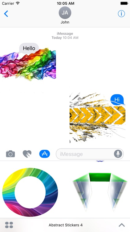 Abstract iMessage Stickers