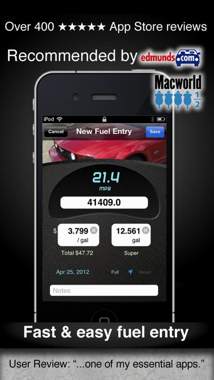 Car Care - fuel economy & service tracking