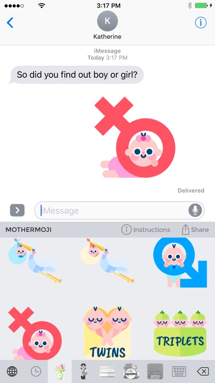 Mothermoji - Pregnancy & Baby Emojis and Stickers screenshot-0