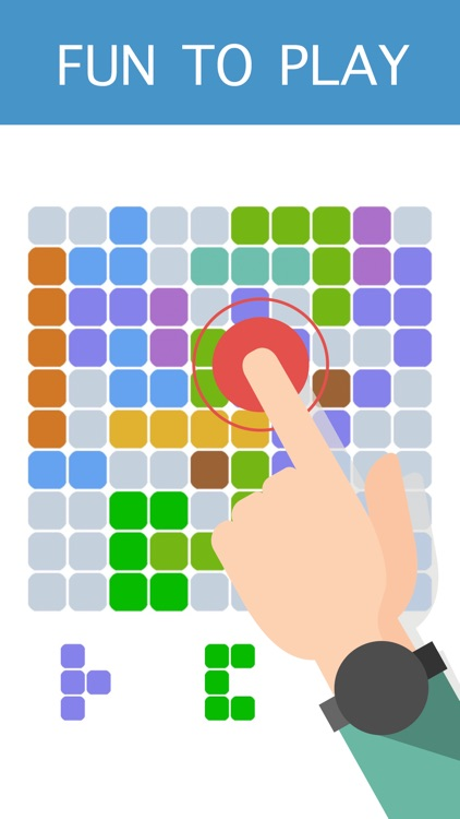 10-10 Colors Block Puzzle Free to Fit : Logic Stack Dots screenshot-3