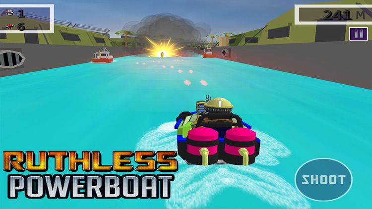 Ruthless Power Boat - 3D Shooting & Racing Game screenshot-0