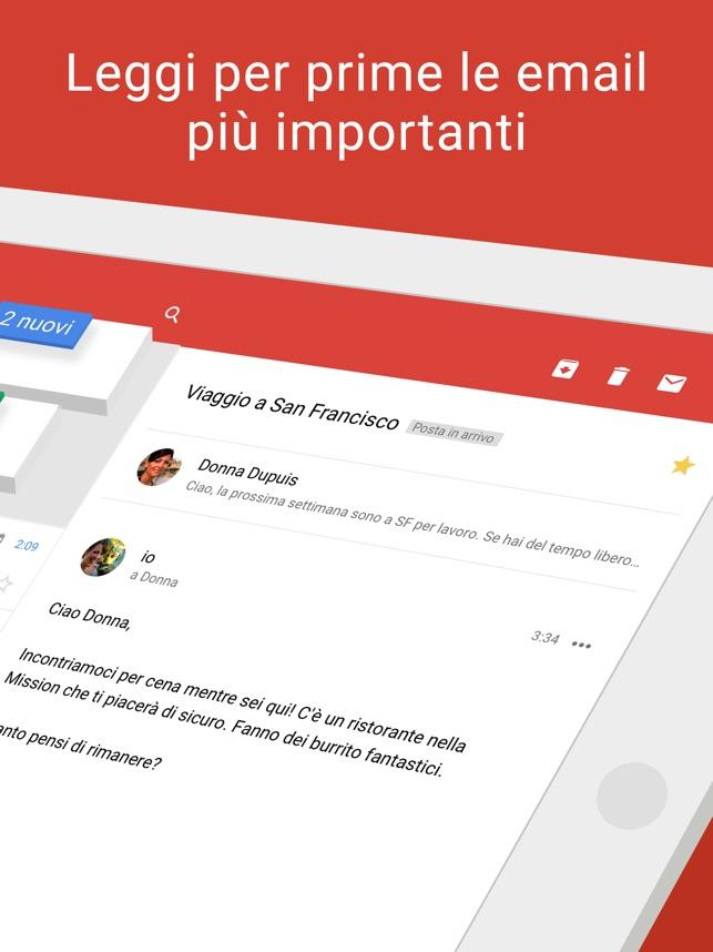 Gmail - l'email di Google Screenshot