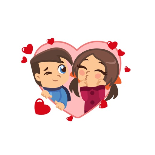 Lovers Emoji Stickers - for iMessage