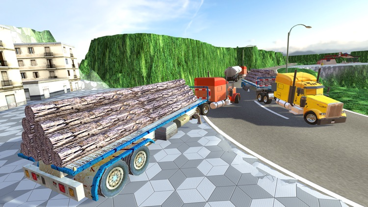 Uphill Cargo Truck Driving 3D - Drive Cargo Truck And Oil Tanker in Offroad & City Environment