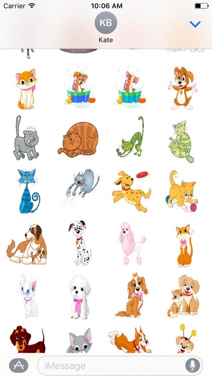 Cute Kitty and Puppy Stickers screenshot-3