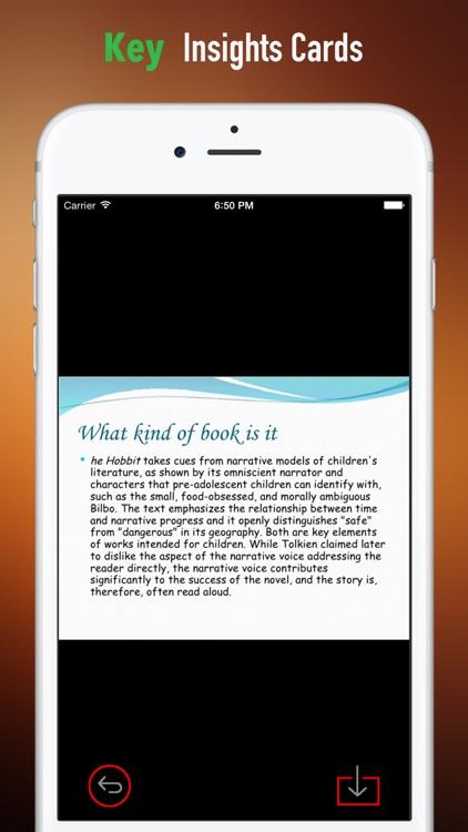 Quick Wisdom from The Hobbit:Practical Guide screenshot-3