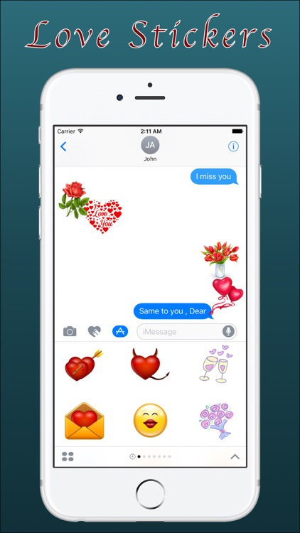 Love Stickers for iMessage App