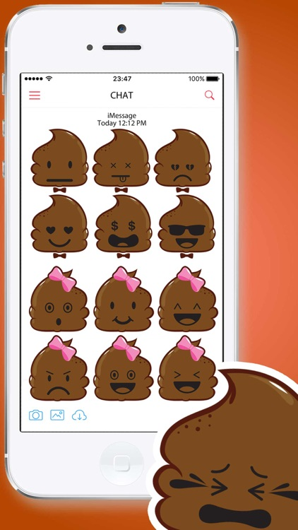 Poop Emoticons Stickers