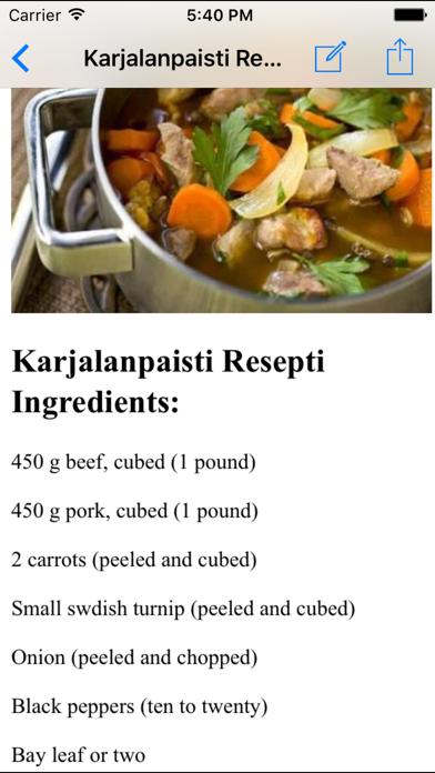 Finnish Food Recipes screenshot two