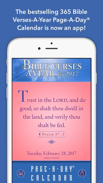 365 Bible Verses-A-Year Page-A-Day Calendar 2017 screenshot-0