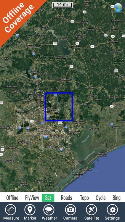 Lake Houston Texas GPS fishing map offline screenshot-4