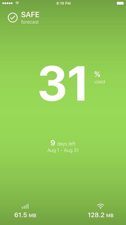 DataMan Next - simply track your data usage screenshot-0