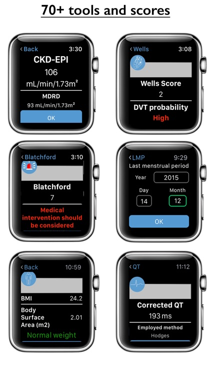 Medical Calc for Apple Watch
