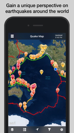 Quakefeed earthquake alerts on the app store screenshots gumiabroncs Choice Image