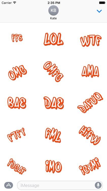 Slanguage - Lingo for iMessage screenshot-3