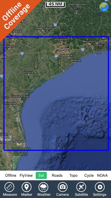 Marine : Texas HD GPS Map Navigator screenshot-4