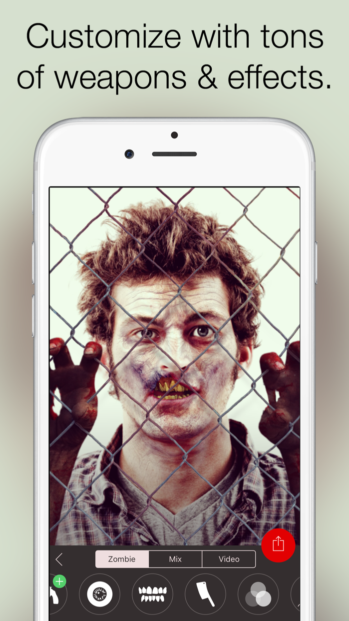 Zombify - Turn yourself into a Zombie Screenshot