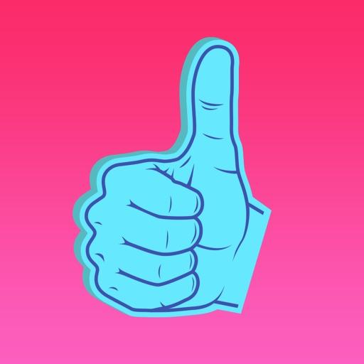 Super Cool: Foam Hands Emoji Sticker Pack