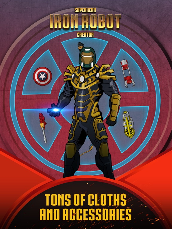 Superhero Iron Robot Creator for Avengers Iron-Man для iPad