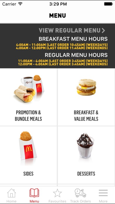 Screenshot for McDelivery Singapore in Singapore App Store