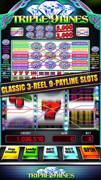 Triple 9 Line Diamond Slot Machine