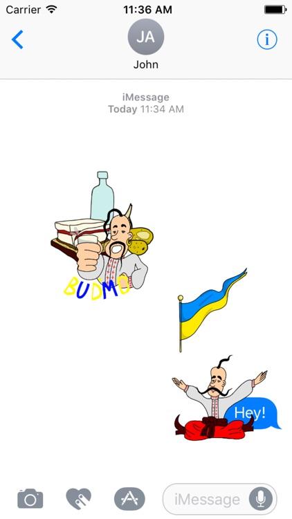 Ukrainian Cossack Stickers