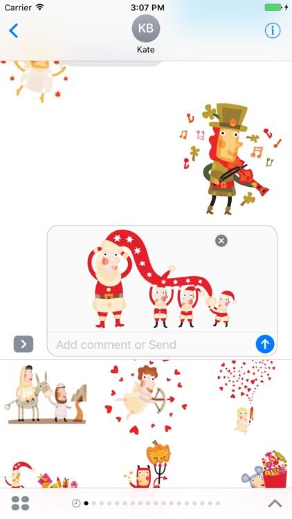 Cute Christmas characters - Fx Sticker screenshot-3