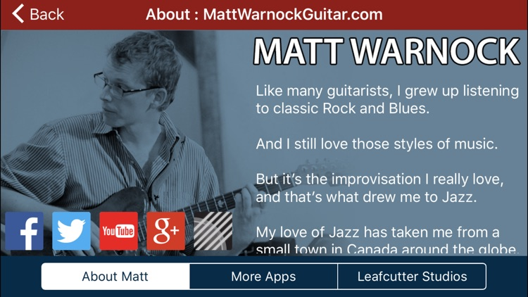 Matt Warnock Guitar : 101 Jazz Guitar Licks screenshot-4