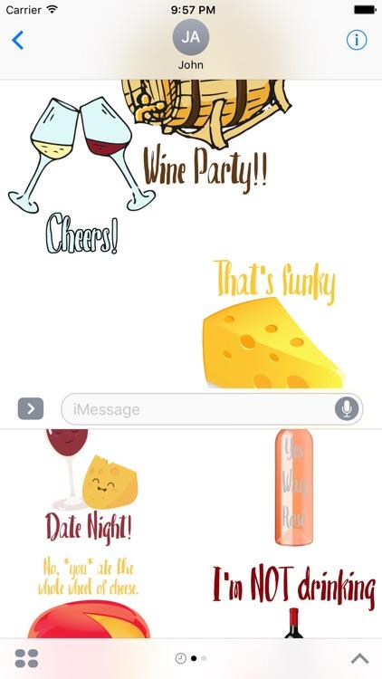WineAndCheeseFriday Sticker Pack