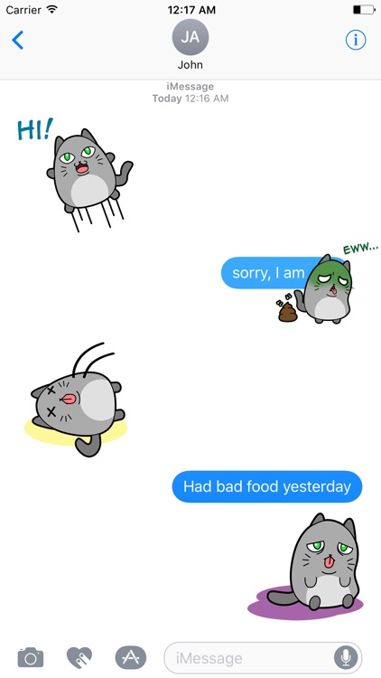 FAt CAt Animated Stickers