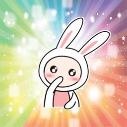Super cute rabbit Animated - Fx Sticker