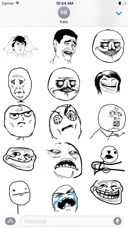 Troll Face Stikers Pack for iMessage