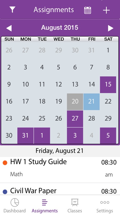 Homework Suite Student Planner & Syllabus Schedule screenshot-4