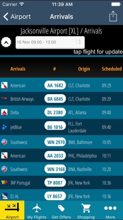 Jacksonville Airport Pro (JAX) + Flight Tracker HD screenshot-1