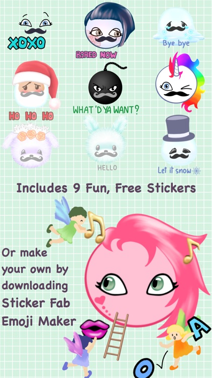 Sticker Fab Free Sample Moustaches for November