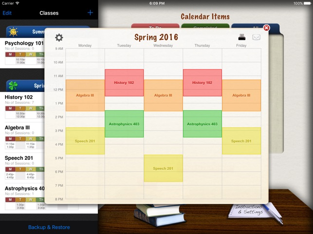complete class organizer on the app store