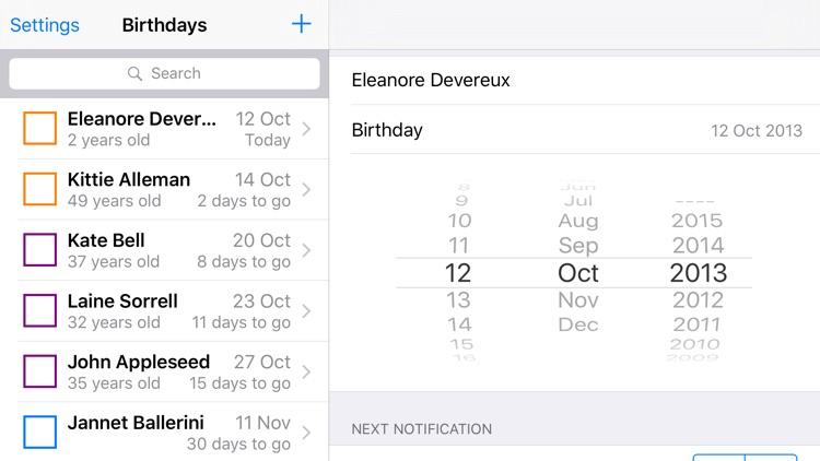 Birthday Memo screenshot-4