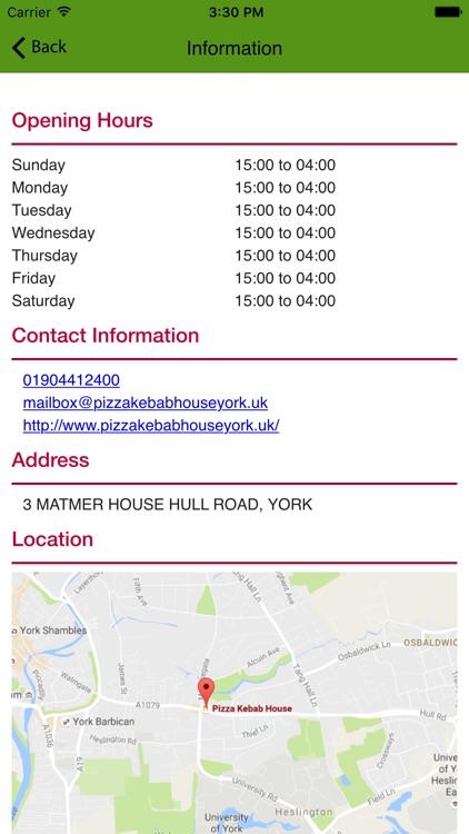Pizza Kebab House York By Venturessky Ltd