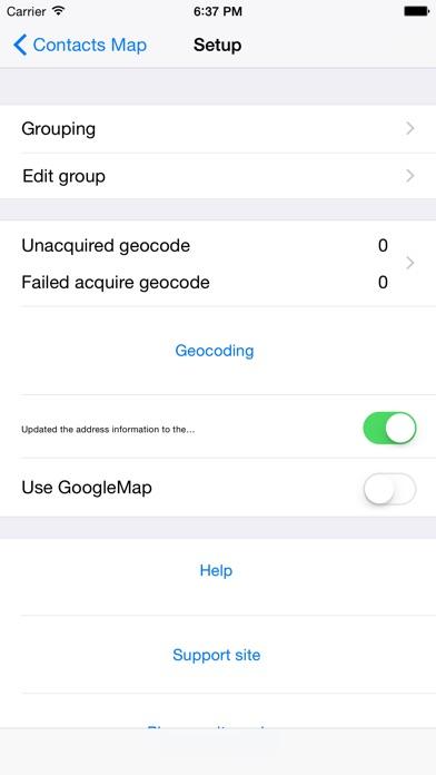 Screenshot for Contacts-Map in Azerbaijan App Store
